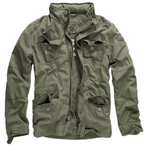 Brandit - Britannia Jacket 3116-1 Oliv Jacke Herren Feldjacke Used Look Größe XL