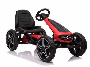 COIL Kinder Tretfahrzeug XMX610 Mercedes Kinderauto Tretauto Pedalen Rennkart Gokart Rot