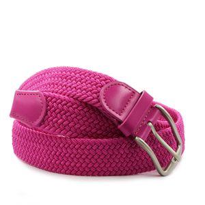 Glamexx 24 Leder Stretchgürtel Breite 3.5 CM,Pink,105cm,18730a15.105