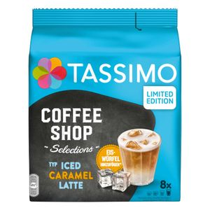TASSIMO Kapseln Typ Iced Caramel Latte Coffee Shop Selections Discs 8 Getränke