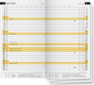 """rido idé Kalender-Einlage """"Miniplaner d12"""" 87 x 153 mm 2022"""