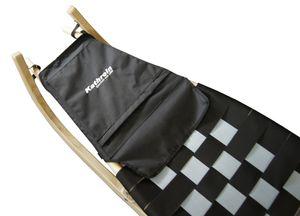 Kathrein Spritzschutz und Sitzverlängerung mit Tasche Schlitten , Farbe:schwarz