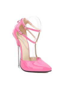Abtel Damen Sandalen Knöchelriemen Dünne High Heels Pointed Toe,Farbe:Pink,Größe:39