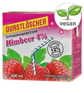 Durstlöscher Himbeer Fruchtsaftgetränk Tetra Pack 500ml 12er Pack