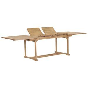 vidaXL Ausziehbarer Gartentisch 180-280x100x75 cm Massivholz Teak