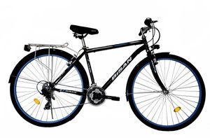 28 Zoll Herren City Trekking Fahrrad Herrenfahrrad Trekkingrad Cityrad Cityfahrrad Beleuchtung Rad Bike 21 Gang 5200 MAN Schwarz Blau