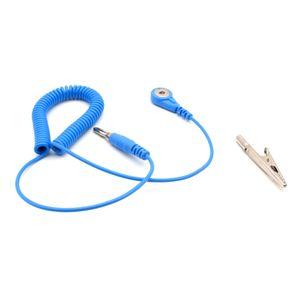 ESD Schutz Spiralkabel Erdungskabel 1,8 m Druckknopf 4 mm und Adapter