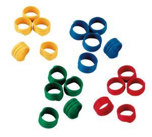 Spiralringe gemischt (100 Stück), gemischt, 16 mm