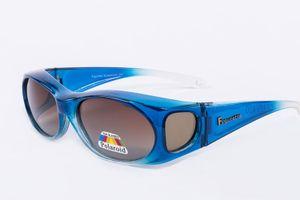 Figuretta Sonnenbrille Überbrille in Blau aus der TV Werbung Schutz Optik Style Brille GetöntSonnenschutz Sommer Sonne Urlaub Style Sonnenschein