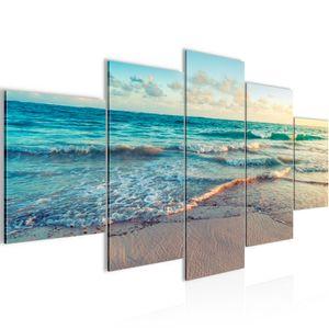 Meer Strand BILD :200x100 cm − FOTOGRAFIE AUF VLIES LEINWANDBILD XXL DEKORATION WANDBILDER MODERN KUNSTDRUCK MEHRTEILIG 015551a