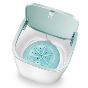 Mini Waschmaschine Waesche Fass Waschmaschine Unterwaesche Socken Waschmaschine Tragbare persoenliche rotierende Ultraschall-Turbinenwaschanlage Praktisch fuer den Schlafsaal zu Hause