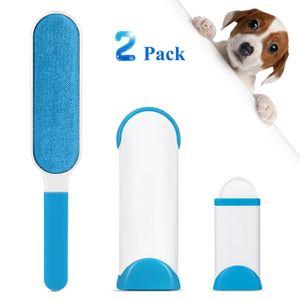 ADORIC Hundebürsten Unterwollbürste Haarentferner, Pet Pinsel,mit doppelseitiger Fusselburste und selbstreinigender Basis,perfekt für Mobel,Teppich