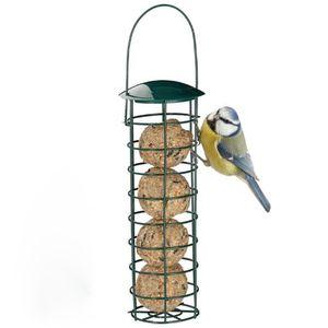Meisenknödelhalter - Futtersäule für Vögel zum Aufhängen mit Edelstahlgitter, Futtersäule für Meisenknödel – ökologische Vogelfütterung ohne Netz