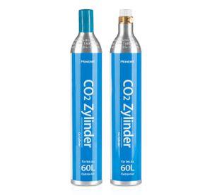 Homewit 2x CO2 Zylinder | erstbefüllt in Deutschland | Pro Füllung bis zu 60 L Sprudelwasser | geeignet für SodaStream(z.B. SodaStream Crystal, Easy, Power & Cool ) Wassersprudler usw.