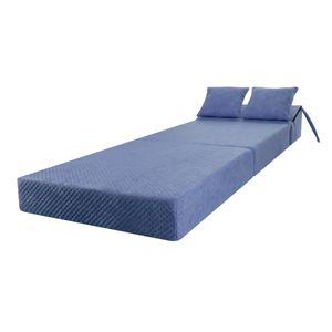 Schlafsessel Klappmatratze Faltmatratze Gästebett Schlafsofa Marmor Blau
