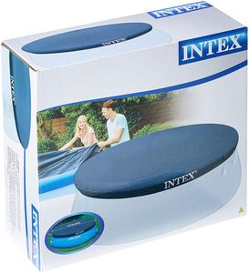 Intex 28026 Poolabdeckung,blau,  Material: Vinylfolie, 396x396x30 cm