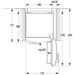 Gorenje Retro-Kühlschrank mit Gefrierfach OBRB 153 R