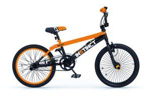 MBM Kinder BMX Instinct 20 Zoll 49 cm Jungen Felgenbremse Schwarz/Orange