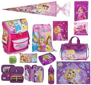 Mädchen Schulranzen-Set Disney Princess 13-tlg. Scooli Cosmos Ranzen 1. Klasse  mit  Sporttasche, Schultüte 85cm - Schulanfang