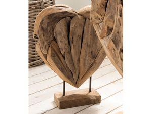 """Deko-Herz aus Massivholz Unikat Hochzeitsdeko Einzelstück Skulptur """"Heart I"""" 30 cm"""