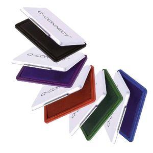 Stempelkissen Q-Connect, 11x7 cm, Gr. 2, Metalletui, Farbe:sortiert (5 Farben)