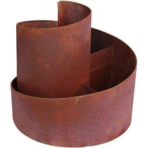 ARTECSIS Kräuterspirale aus Metall mit Edelrost, Kräuterbeet für Garten und Terrasse, Kräuterschnecke ca. 29 x 30 cm (30 cm)