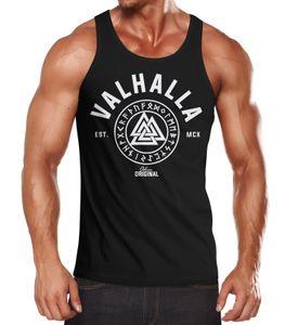 Herren Tank-Top Valhalla Runen Vikings Wikinger Muscle Shirt Neverless® schwarz L
