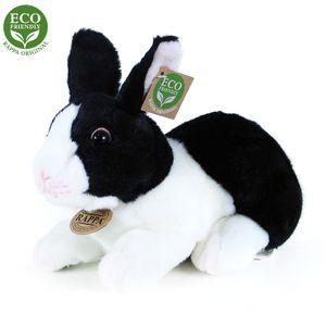 Hase schwarz/weiß 24 cm liegend Kuscheltier