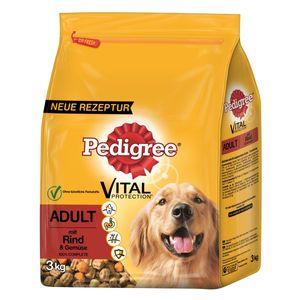 Pedigree Adult mit Rind & Gemüse - Hunde-Trockenfutter; 3 kg