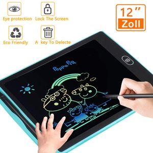 iLiebe LCD Writing Tablet Schreibtafel 12 Zoll für Kinder,  Digital Papierlos Schreiben Tabletten ,Bunte,Handschrift Notizblock, Zeichnung Boards Schreibtafel für Kinder, Doodle Board, Writing Tablet, Geschenk für Kinder Erwachsene Home School Offic