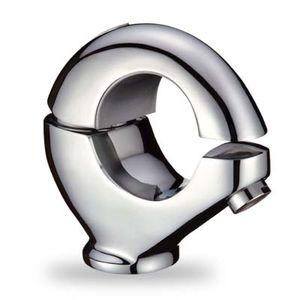 Einhand Wasserhahn Waschbecken | Waschtischarmatur Bad | Einhandmischer Waschtisch | Einhebel Mischbatterie | Armatur silber