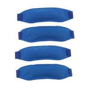 4x Gel Kühlpad Kühlkompresse Kühlkissen Kühlbeutel Kühlpack für z.B. Knie, Augen Gesicht