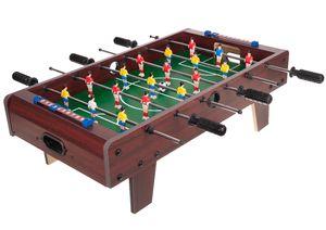 Tischkicker mit Füßen 69x37x23cm Aufstellen 18 Spieler Toranzeige Schieber 2 Bälle 1564