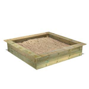 FATMOOSE PowerPit Sandkasten mit Sitzrand 145 x 145 cm