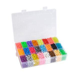 5200X Aquabeads Glitzer Basteln Kinder Bastelset Glitzerperlen  Wasserperlen Komplettes Zubehör inklusive 24 Farben Nachfüllset
