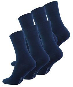 Cotton Prime® Diabetiker Socken  ohne Gummibund 6 Paar 43-46 marine blau