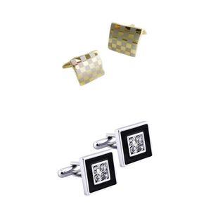 2 Paar Klassische Messing Kristall Manschettenknopf Rohlinge Quadratische Manschettenknöpfe Hemd Nieten