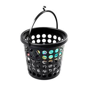 Plast Team Set 24 Stück Klammern im Korb aus Kunststoff schwarz
