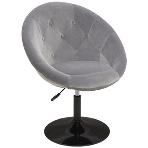 Duhome Esszimmerstuhl Clubsessel Lounge Sessel Cocktailsessel Stoff Samt Grau