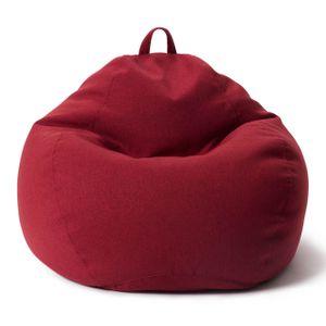 Lumaland Comfort Line XXL Sitzsack - 100x120x50 cm Bodenkissen, Bean Bag Chair - 315 L - EPS Perlen Füllung - Rot