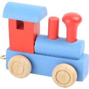 Small Foot Design 10349 'Buchstabenzug bunt' Holz Lokomotive, blau/rot (1 Stück)