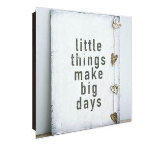 banjado Design Schlüsselkasten aus Glas Motiv Little Things Türanschlag Rechts