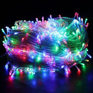 20M 200 LED Lichterkette Bunt 8 Lichtmodi Party Garten Innen Außen Deko Weihnachtsbeleuchtung
