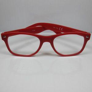 Große Lesebrille +1,5 rot für SIE & IHN mit Flexbügel Fertigbrille Lesehilfe