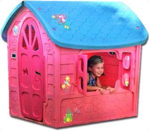 Thorberg Spielhaus Kinderspielhaus Kinderhaus ROSA 120x113x111cm EXTRA groß