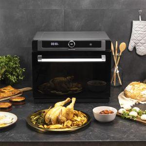 Cecotec Bake&Steam 4000 Combi Gyro 3-in-1-Dampfbackofen mit Dampffunktion, Umluft und Fritteuse, 40 Liter Fassungsvermögen, 7 Ga