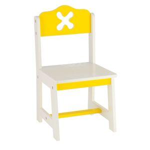 Bieco Holz Kinderstuhl, gelb | Für Innen | Kinder Stuhl aus Holz | Holz Sitzbank Kinder | Stuhl Kleinkind | Kindertisch mit Stühle | Sitzhocker Kinder | Safety 1st