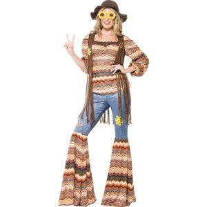 70er Jahre Damen Kostüm Hippie Karneval Fasching Party Gr.S
