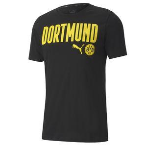 Puma BVB Borussia Dortmund ftblCore Wording T Shirt Herren 20/21, Größe:(3XL) XXXL
