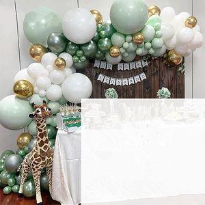 100Pcs Ballon Party Geburtstag Nachbildung Bogen Kit Girlande Hochzeit Baby Shower